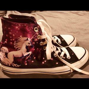 Unicorn Converse All Star High Top Tennis Shoes